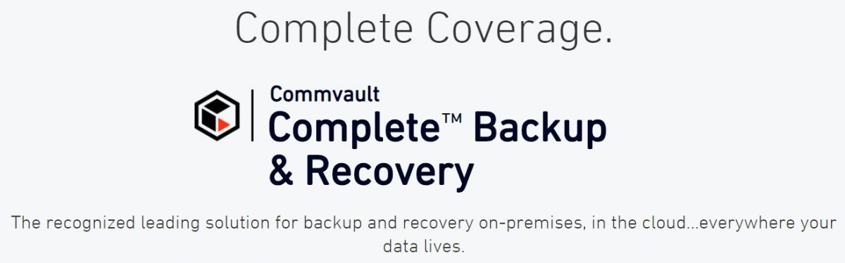Integrazione tra Commvault Complete Backup & Recovery Software e i sistemi Hewlett Packard Enterprise (HPE) StoreOnce