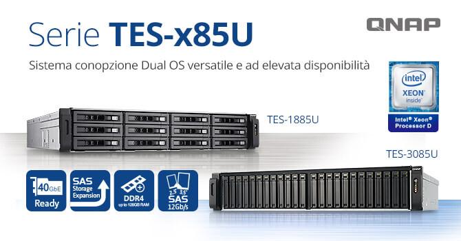 La serie NAS TES-x85U di QNAP