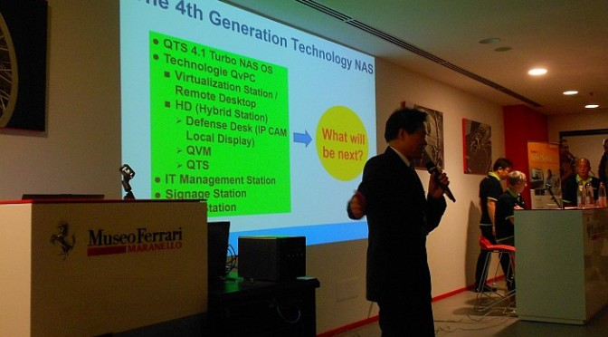 Richard Lee, QNAP, The 4th generation technology NAS, Ferrari Museum, Maranello, Italy