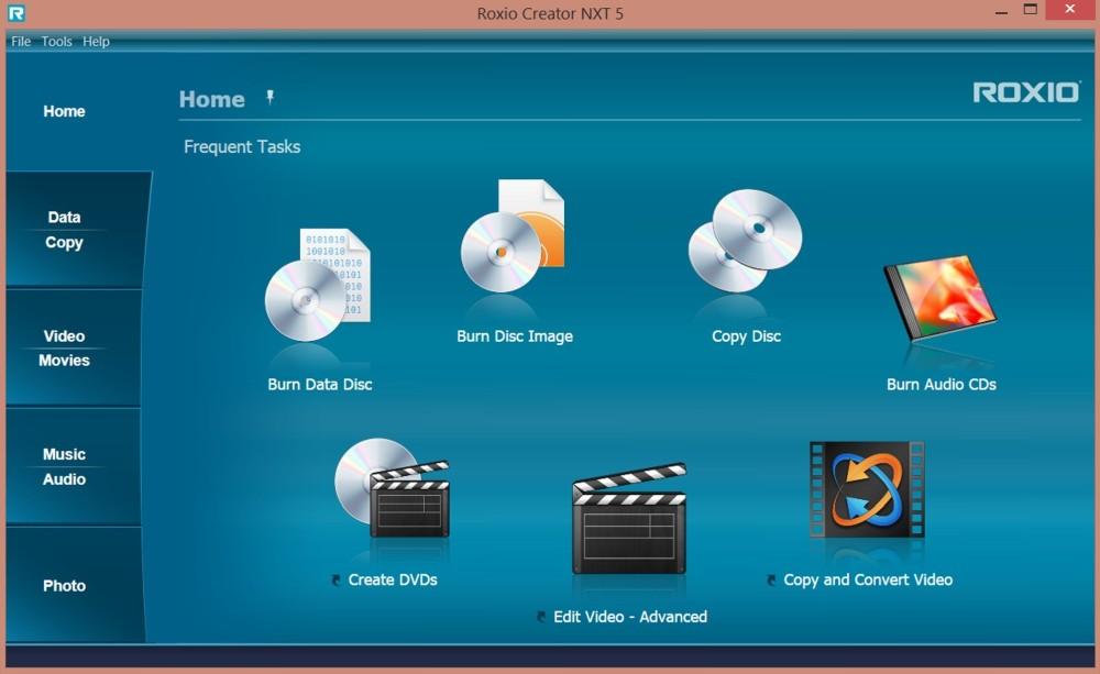 Per masterizzazione CD e DVD in modo semplice e completo: Roxio Creator NXT 5