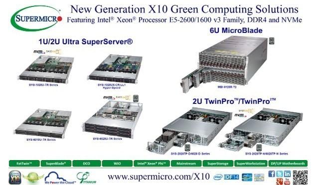 Nuove soluzioni server/storage X10 da Super Micro con processore Intel Xeon E5-2600/1600 v3, DDR4 e NVMe a IDF 2014