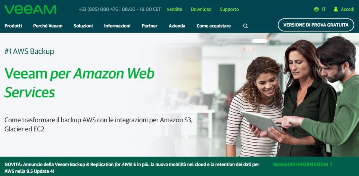 Backup and Recovery AWS-Native da Veeam