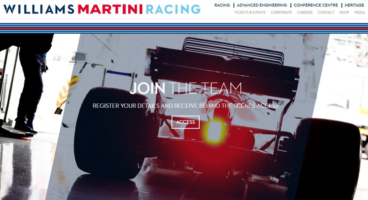 Acronis e Williams Martini Racing F1