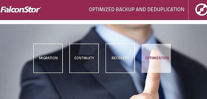 optimized backup and deduplication FalconStor